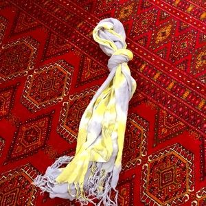 Accessories - Lavender & yellow tie-dye scarf